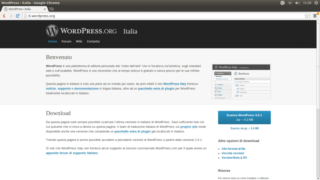 homepage WordPress